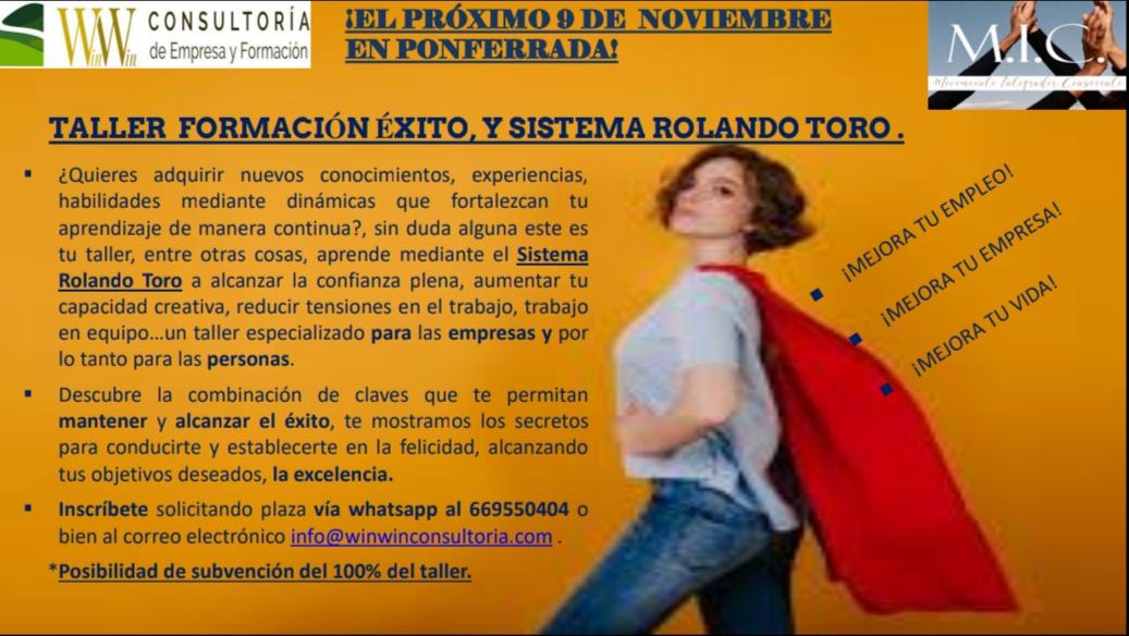 Win Win Consultoría Taller Éxito & Sistema Rolando Toro I
